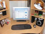 pentium 4 pc with lcd screen monitor