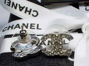 Authentic Chanel-Swarovski stud earrings