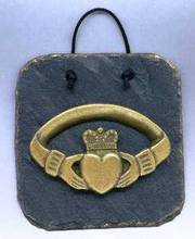 Claddagh slate plaque