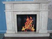 marble fireplace_crema nova